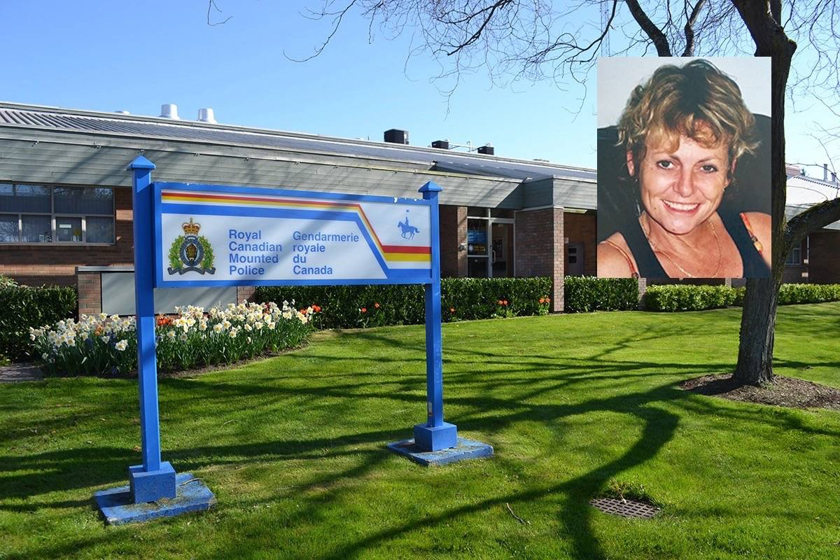 The IIO's investigation into the March 2016 death of Patricia Ann Wilson (inset) in White Rock RCMP cells continues. (File photos)