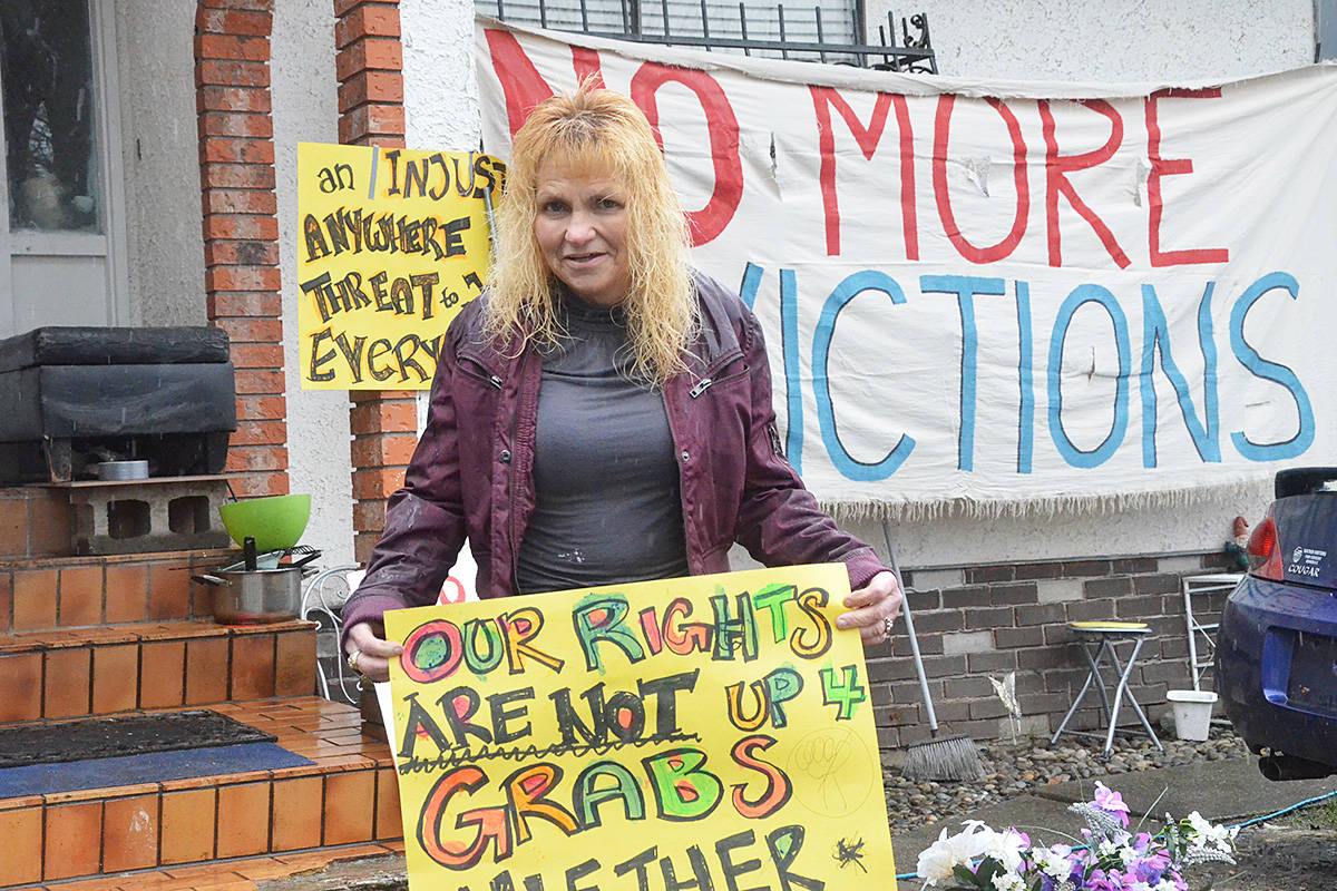 Maureen Brown is taking the Township of Langley to court over her eviction from a house the Township bought to tear down near the LEC. (Matthew Claxton/Langley Advance Times)