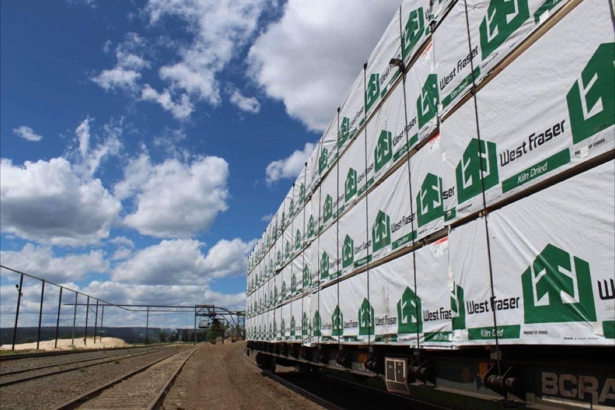Rail shipment of lumber from B.C.'s Interior. (Black Press Media files)