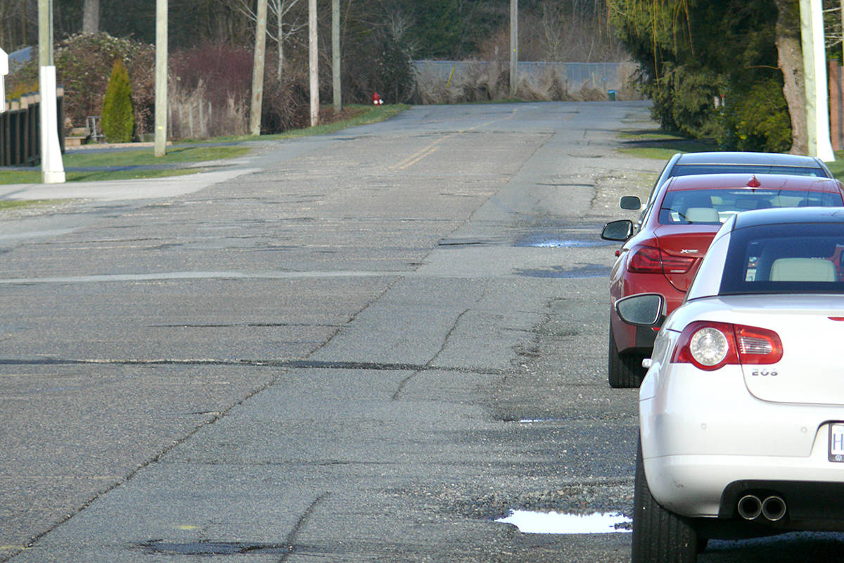 The historic section of Old Yale Road through Murrayville is too dangerous to be left alone. It requires upgrading, immediately, says Langley letter writers. (Langley Advance Times files)