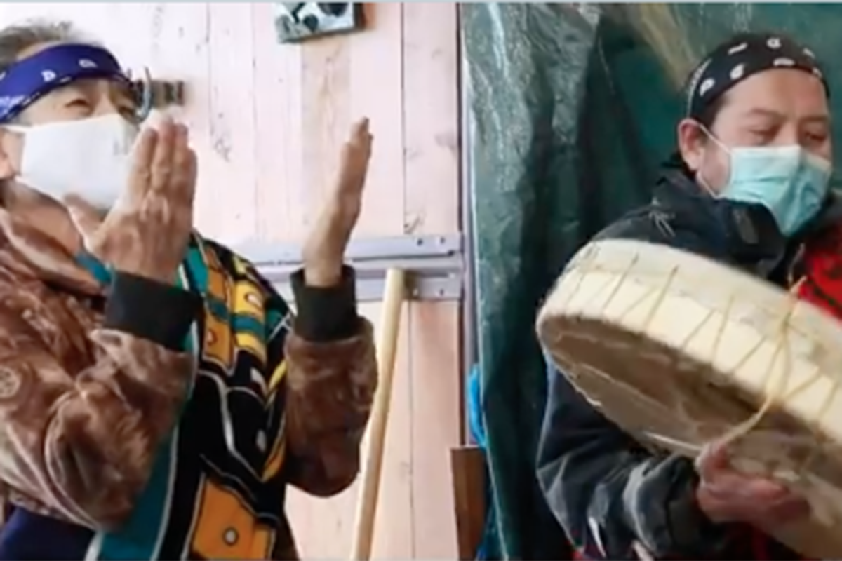 A Blessing Ceremony was held to honour and celebrate the carving of a House Post for the Aboriginal Head Start Program at Parkside Elementary. (Langley School District)