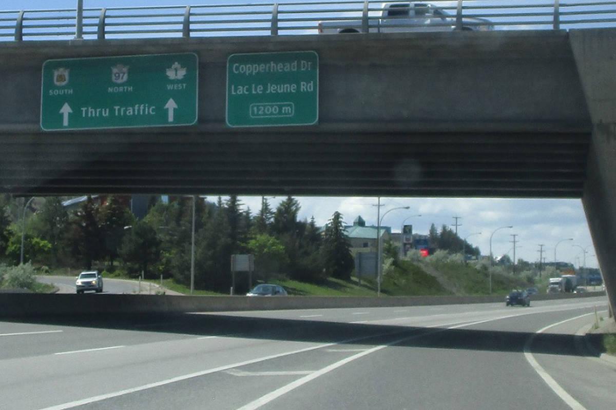 Trans-Canada Highway and Hillside Way, Kamloops. (Corco Highways photo)