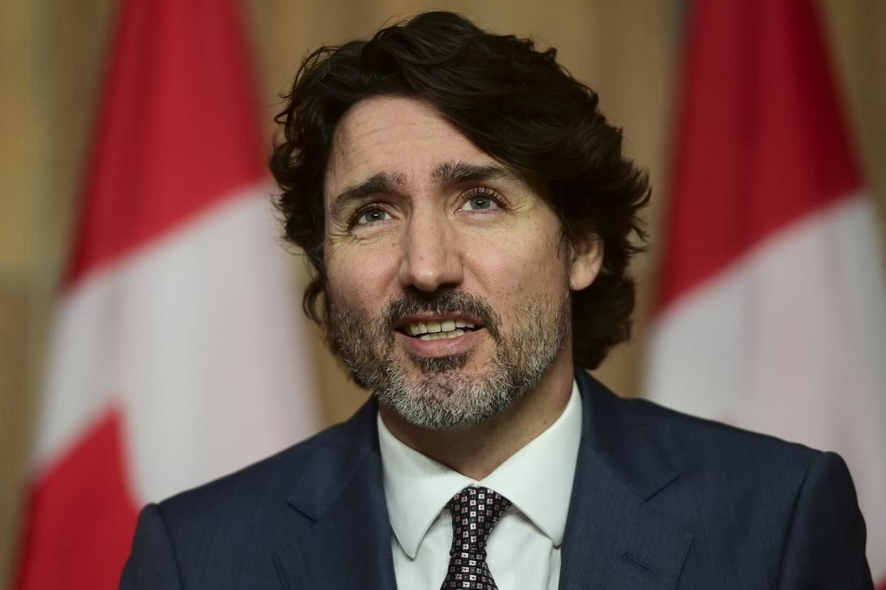 Prime Minister Justin Trudeau holds a press conference in Ottawa on Tuesday, May 18, 2021. THE CANADIAN PRESS/Sean Kilpatrick