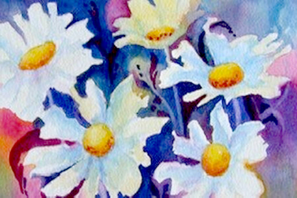 Artist Gabrielle Strauss's watercolour work <em>Daisy Love</em>. (Special to The Star)