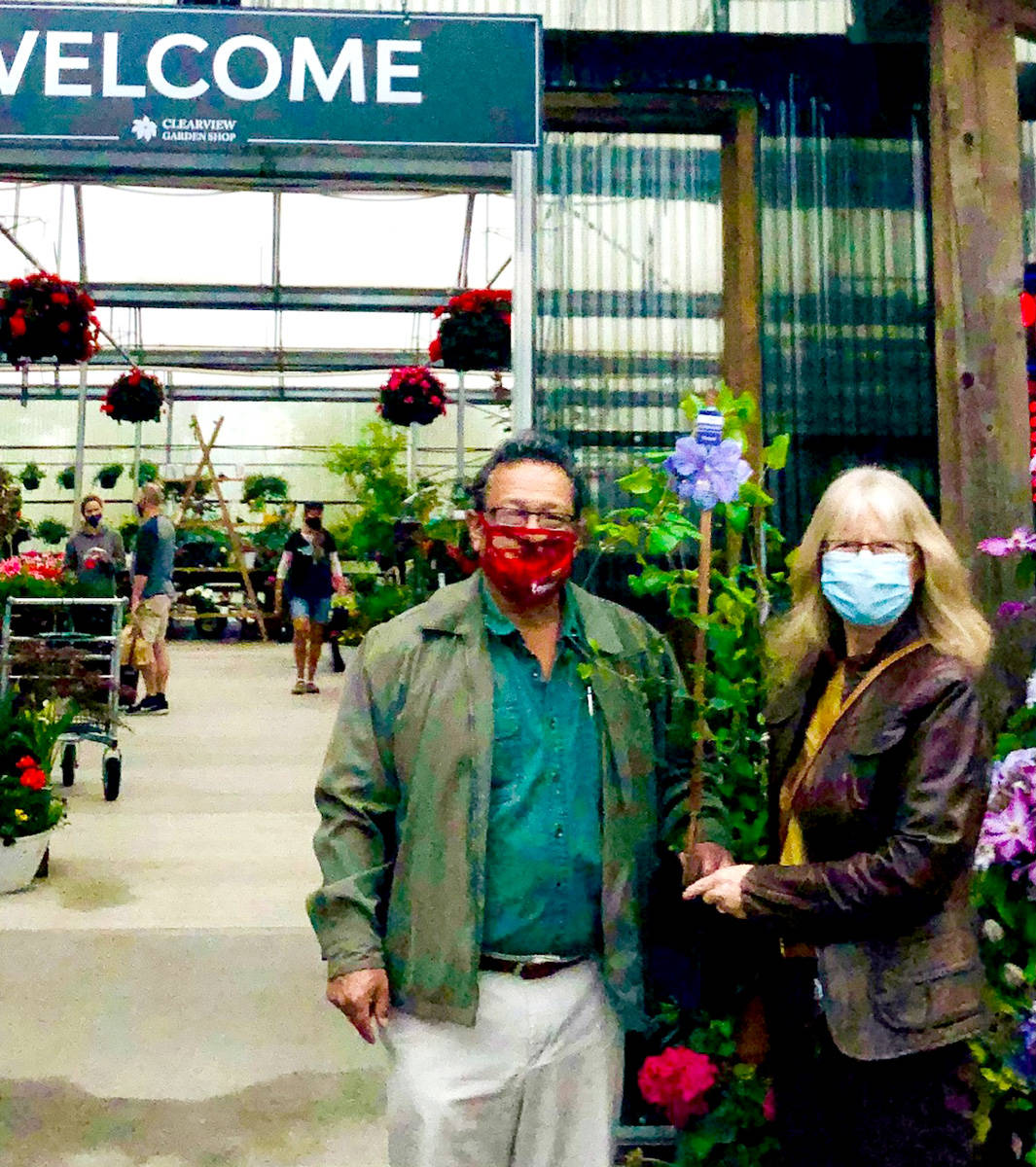 Karen Long did some plant shopping at Clearview Garden Centre. (Special to The Star)