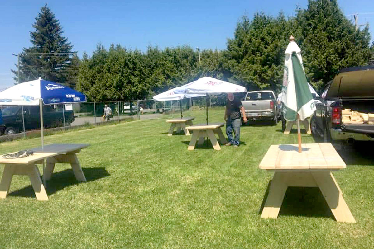 Aldergrove legion branch #265 was ready for outdoor dining when indoor restrictions were lifted. (Special to The Star)