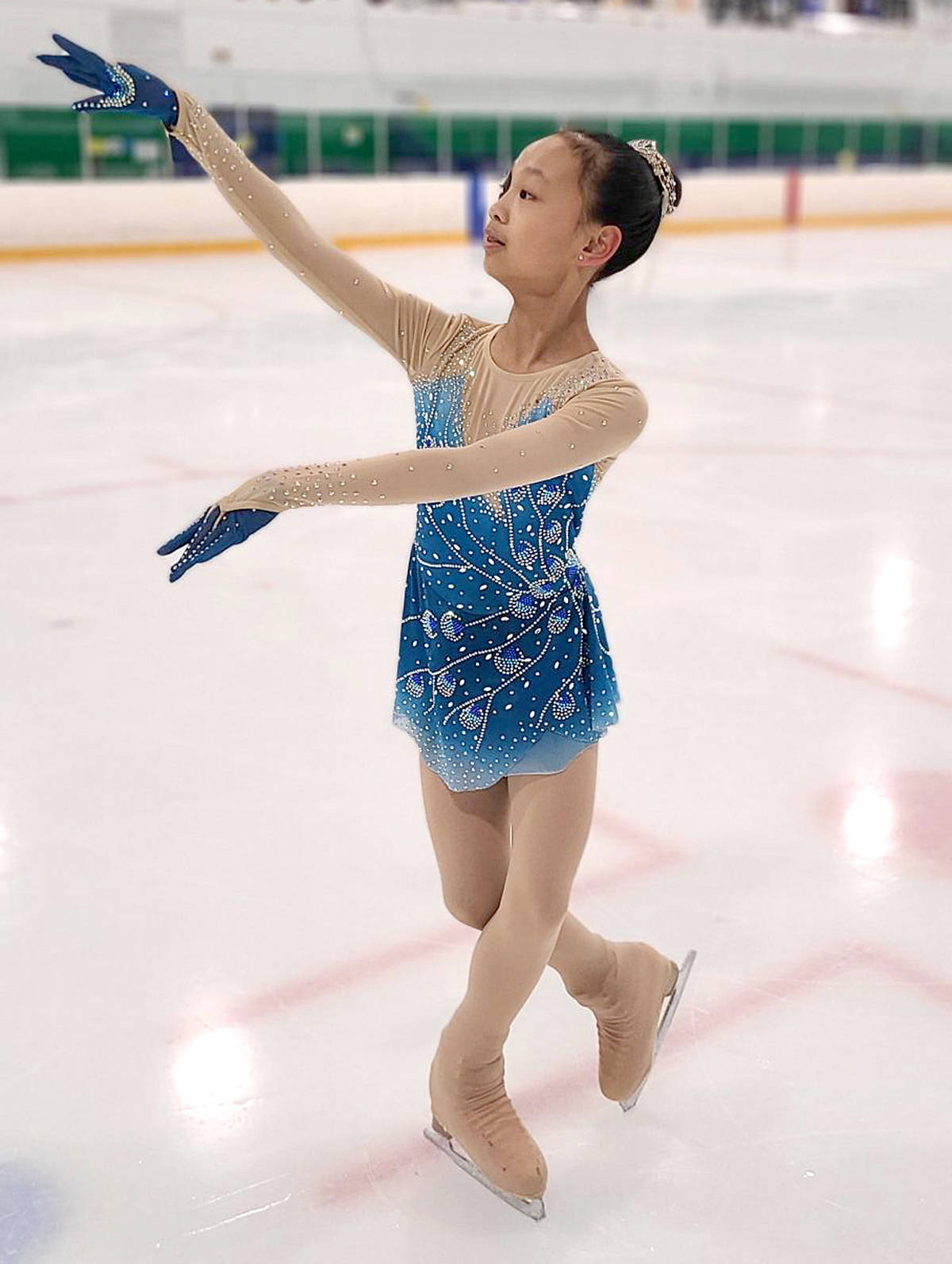 Hannah Li brought home a gold during the Skate Canada's B.C. coast regional competitions held virtually earlier this month. (Langley Skating Club/Special to Langley Advance Times)