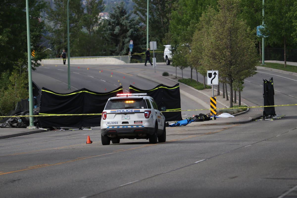 The area of Gordon Road between Lexington Drive and Cook Road is closed following a fatal vehicle collision on May 26. (Aaron Hemens/Capital News)