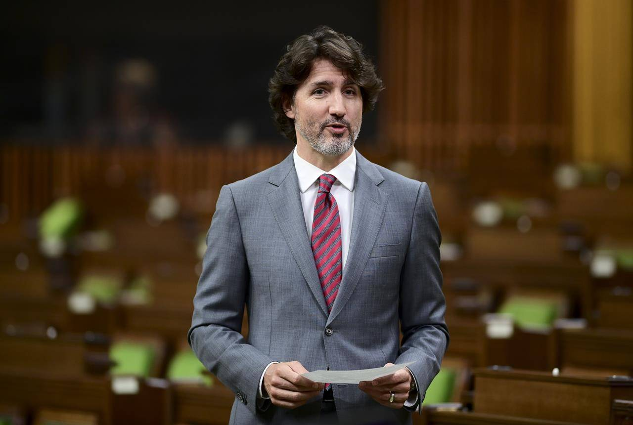 Prime Minister Justin Trudeau rises during question period in the House of Commons on Parliament Hill in Ottawa on Wednesday, May 26, 2021. THE CANADIAN PRESS/Sean Kilpatrick