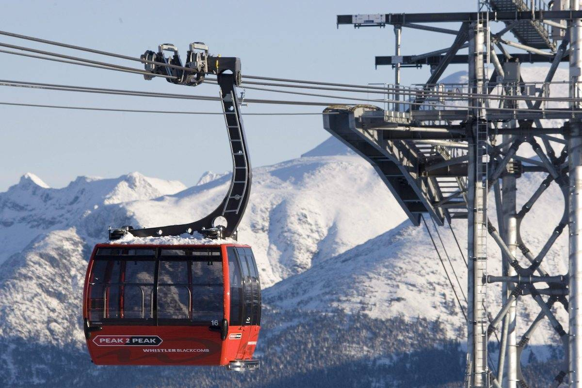 Whistler Blackcomb's Peak to Peak gondola, which links the tops of Blackcomb and Whistler mountains. THE CANADIAN PRESS/Jonathan Hayward
