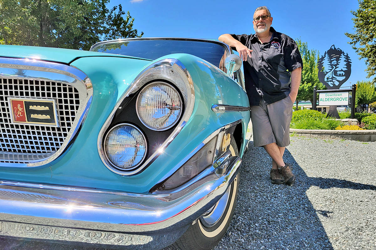 Riccardo Sestito and his vehicles will be back for Langley Good Times Cruise-In 2021. (Dan Ferguson/Black Press Media)
