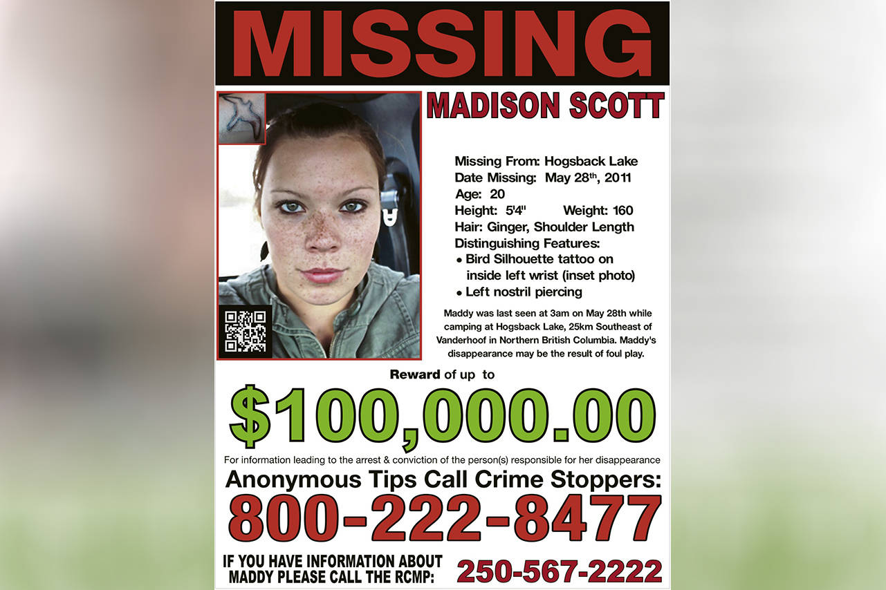 There is a $100,000 reward for any tip that leads to finding Madison Scott.