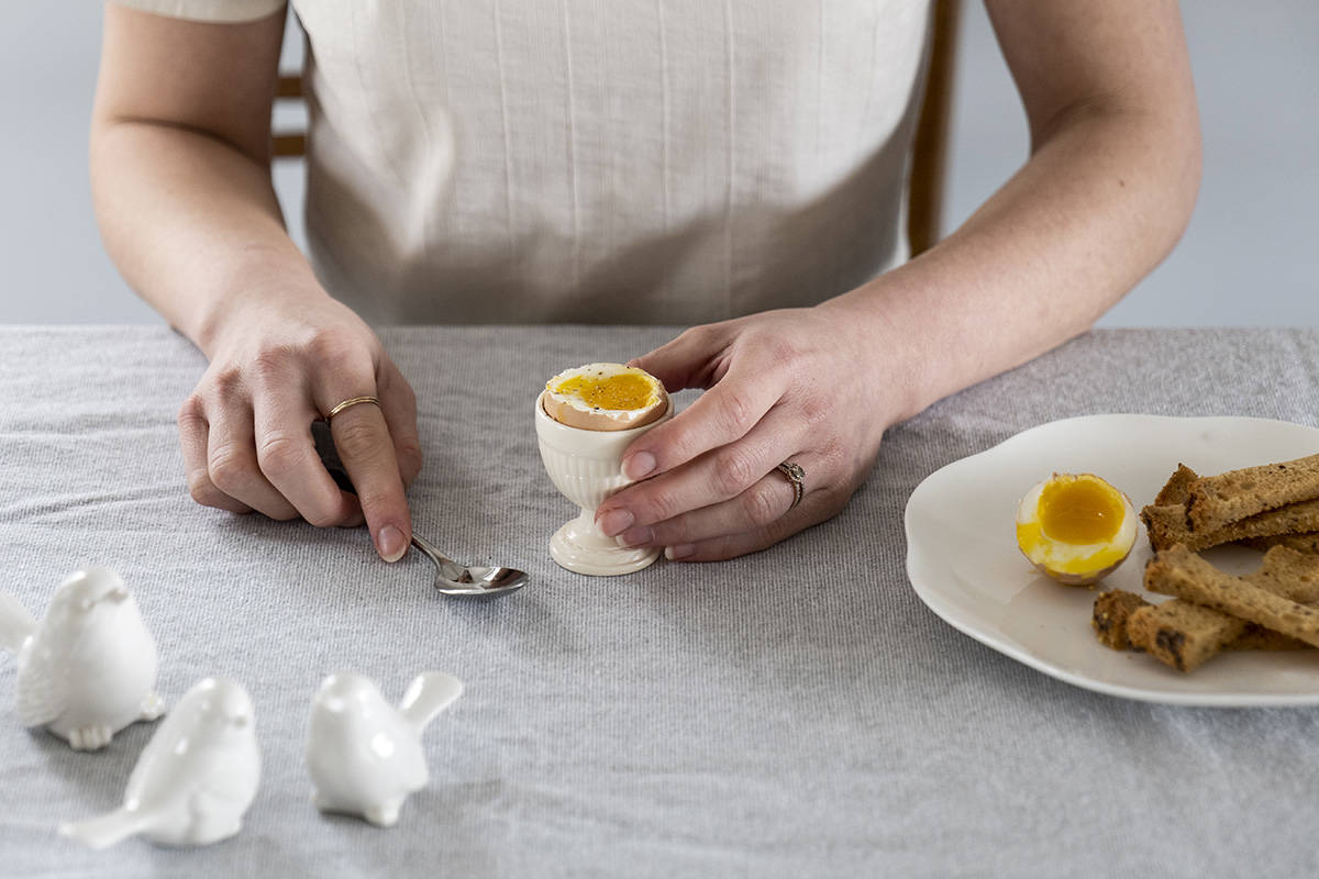 Recipes for cooking with eggs. Lia Crowe photographs