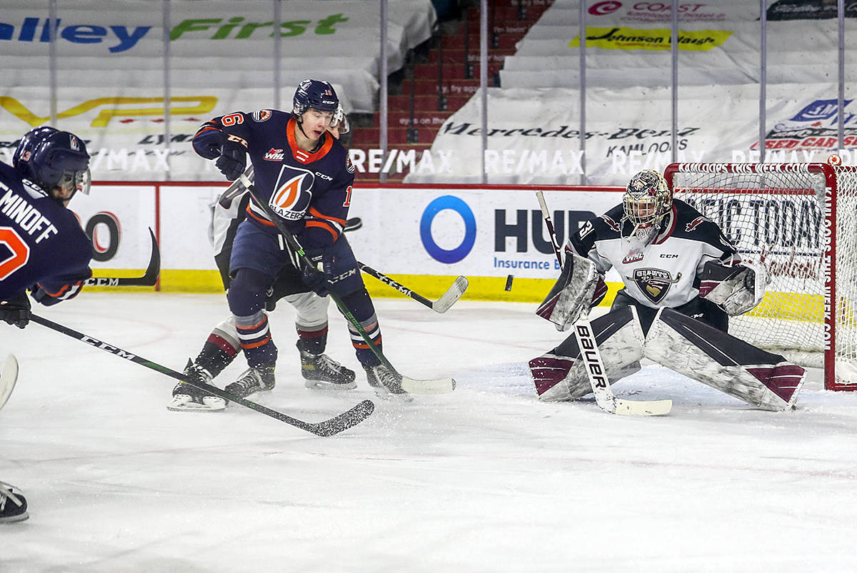 Colorado has had its eye on Vancouver Giants netminder Trent Miner for some time, signing him in 2019 and putting him on the ice with the AHL Colorado Eagles for six games earlier this season. (Allen Douglas/Special to Langley Advance Times)