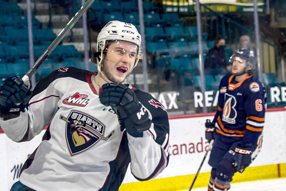 Zack Ostapchuk scored seven goals and added nine assists for 16 points this past season as a forward with the Vancouver Giants. (Tricia Mercuri/Special to Langley Advance Times)