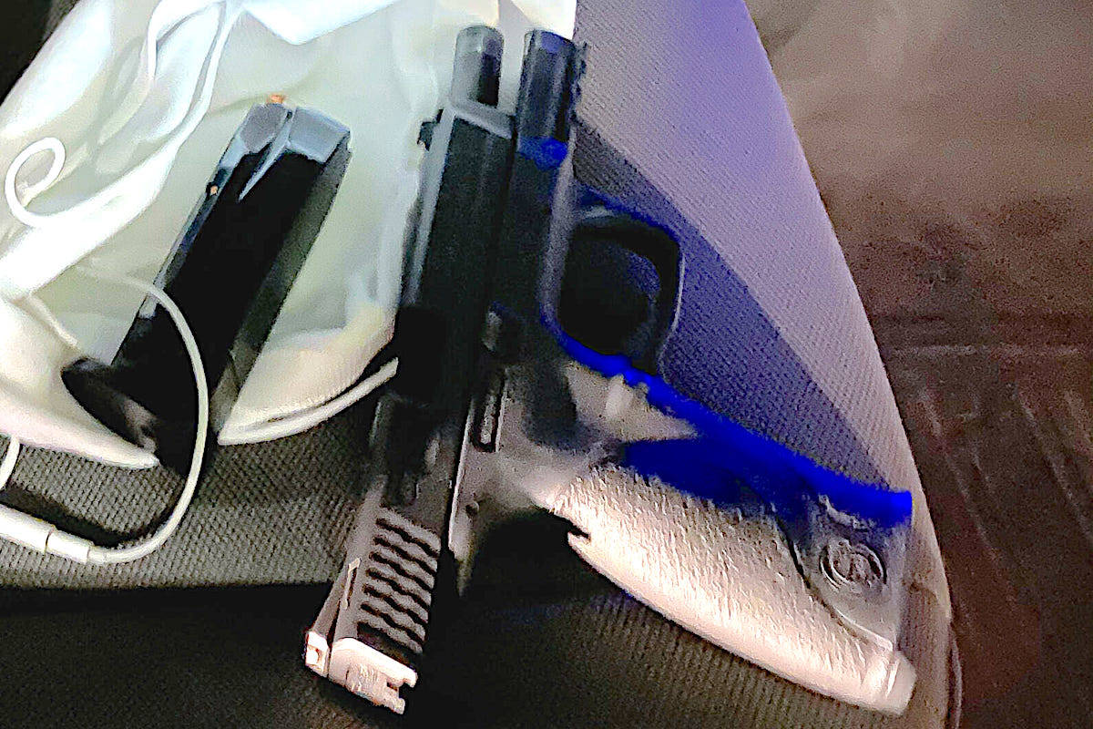 The individuals were detained for investigation when CFSEU officers located a loaded handgun on their persons Friday, May 21. (CFSEU)