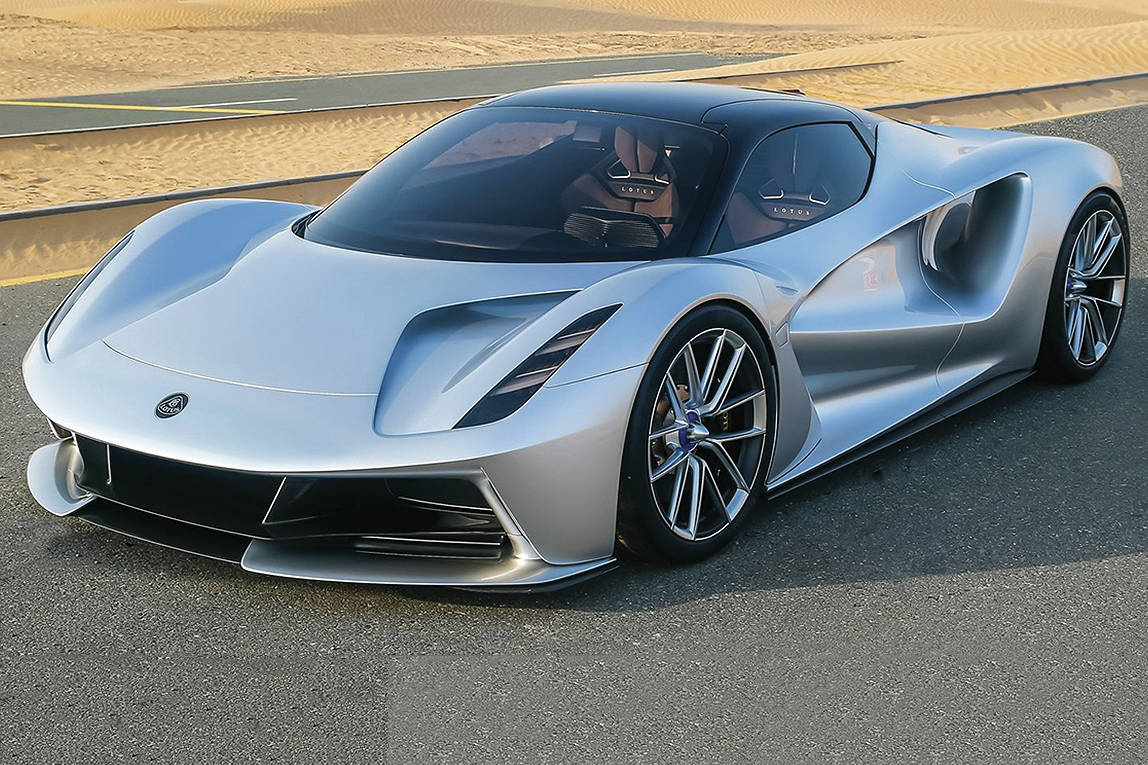 The Evija is a 1,200-horsepower supercar that will be sold in North America by Lotus. PHOTO: LOTUS