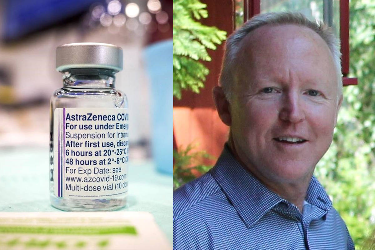 Hal Fraser Bringeland said he developed a blood clot after receiving the AstraZeneca vaccine. (Contributed photo/Canadian Press photo)