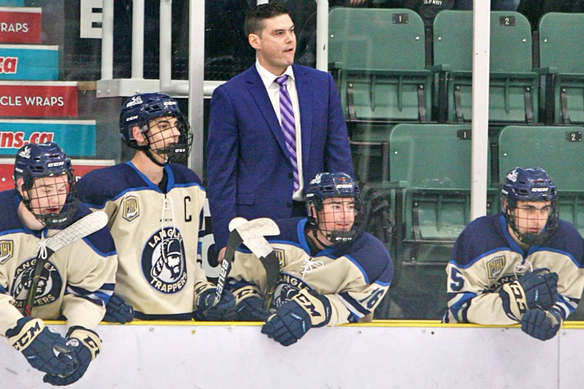 Burt Henderson moved from coaching the Langley Trappers to become Langley Rivermen head coach and general manager. (Tonino Guzzo/Special to Langley Advance Times)