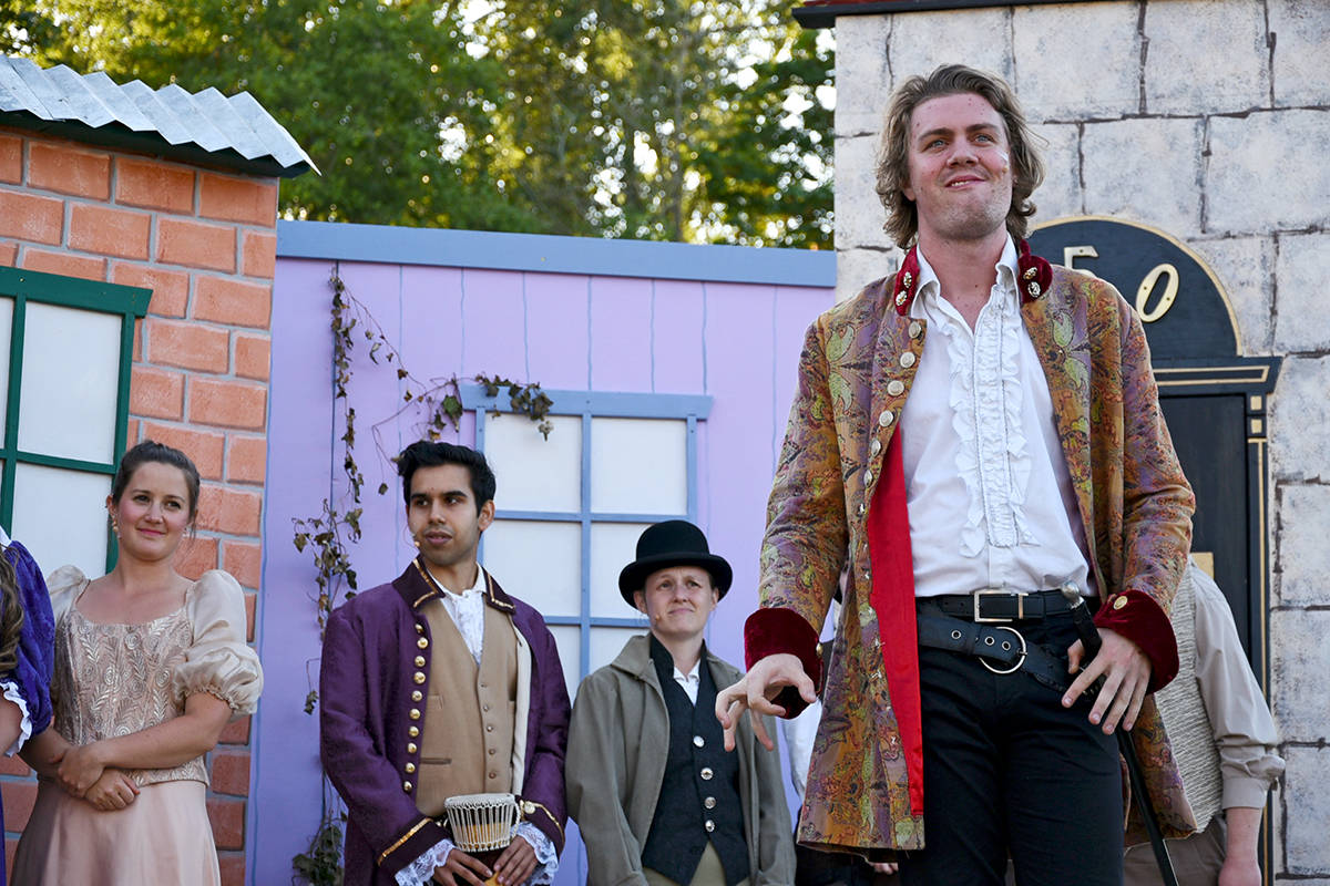 Larger casts were a feature of past Bard in the Valley performances, like this production of Much Ado About Nothing, but this year there will be just three actors on stage for The Complete Works of William Shakespeare (Abridged). (Black Press Media files)