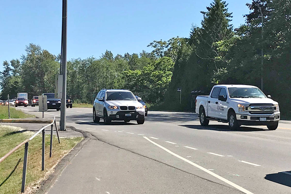Traffic was back to normal on 200th Street in Langley after a young girl was rushed to hospital after she was hit by a vehicle Tuesday afternoon. (Matthew Claxton/Langley Advance Times)
