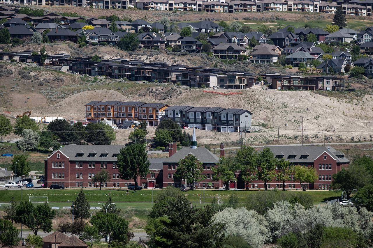 The former Kamloops Indian Residential School is seen in Kamloops, B.C., on Tuesday, June 1, 2021. Ground-penetrating radar has located what are believed to be the unmarked graves of 215 students at the former school. THE CANADIAN PRESS/Darryl Dyck
