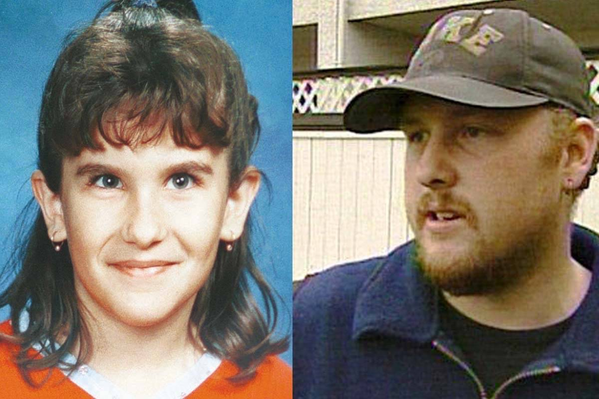 Shane Ertmoed (right) is serving a life sentence for killing 10-year-old Heather Thomas on Oct. 1, 2000. (File photos)