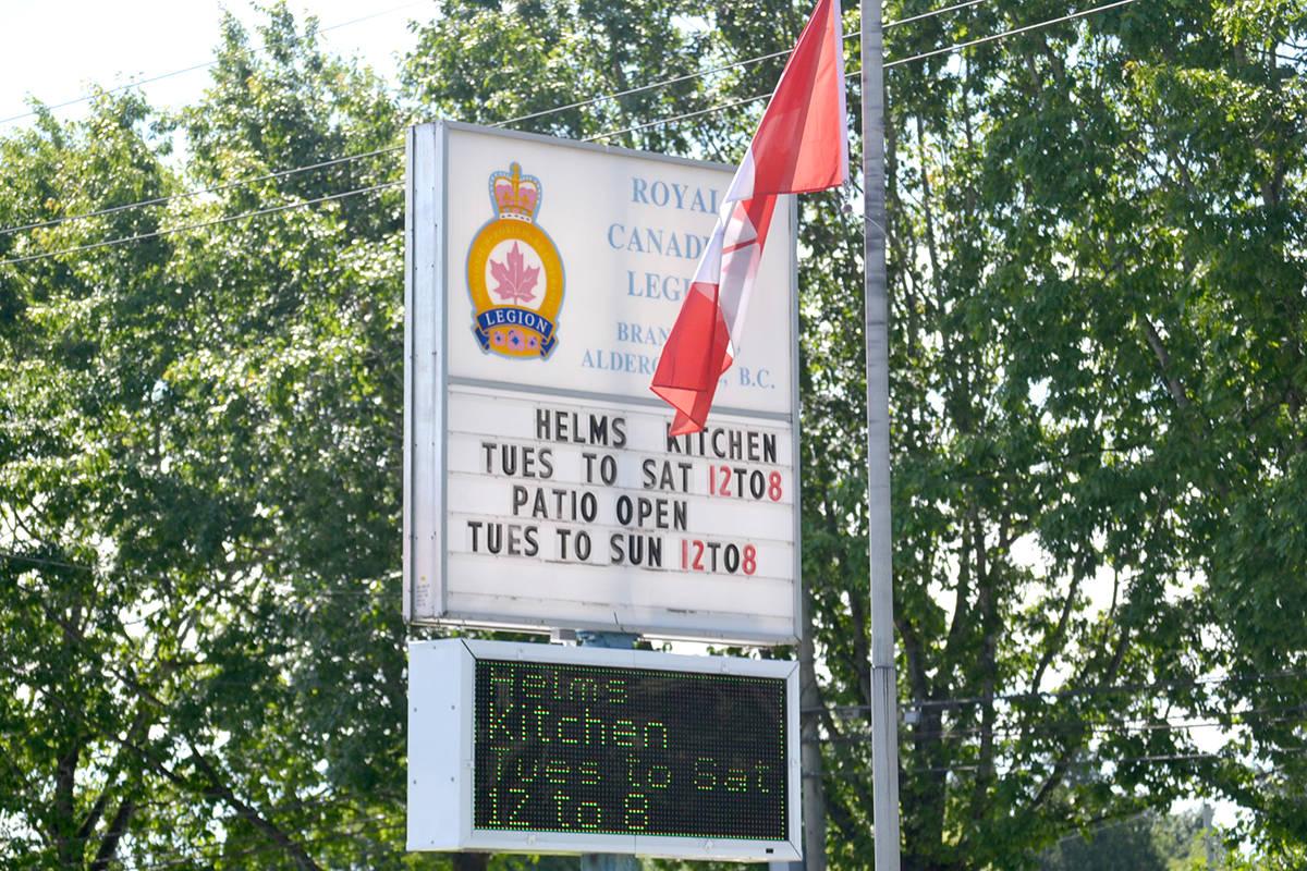 Aldergrove legion branch #265 has installed a new electric sign. (Ryan Uytdewilligen/Aldergrove Star)
