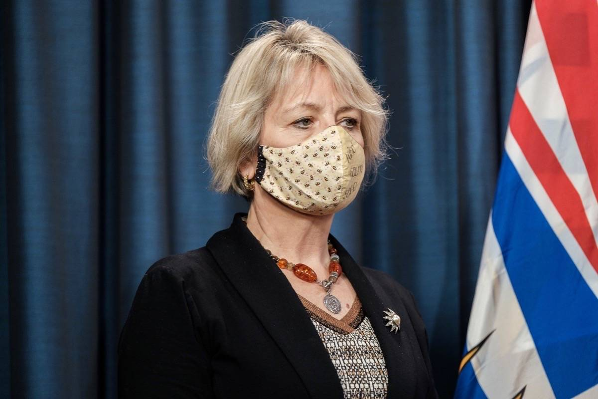 Provincial health officer Dr. Bonnie Henry says B.C.'s mandatory mask order could be gone as soon as July as COVID-19 infection rates fall and vaccination rises. (B.C. government)