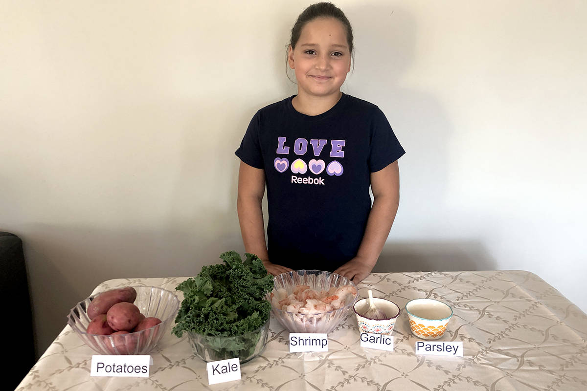 Langley 4-H junior member, Juliet, participated in Field to Fork Challenge this past year. (Aldergrove Star files)