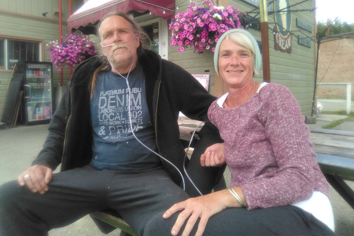 Daniel Fitzgibbon (left) with his wife Rachel Dugdale. The Meadow Creek couple are waiting for Fitzgibbon to receive a double-lung transplant. Photo: Submitted