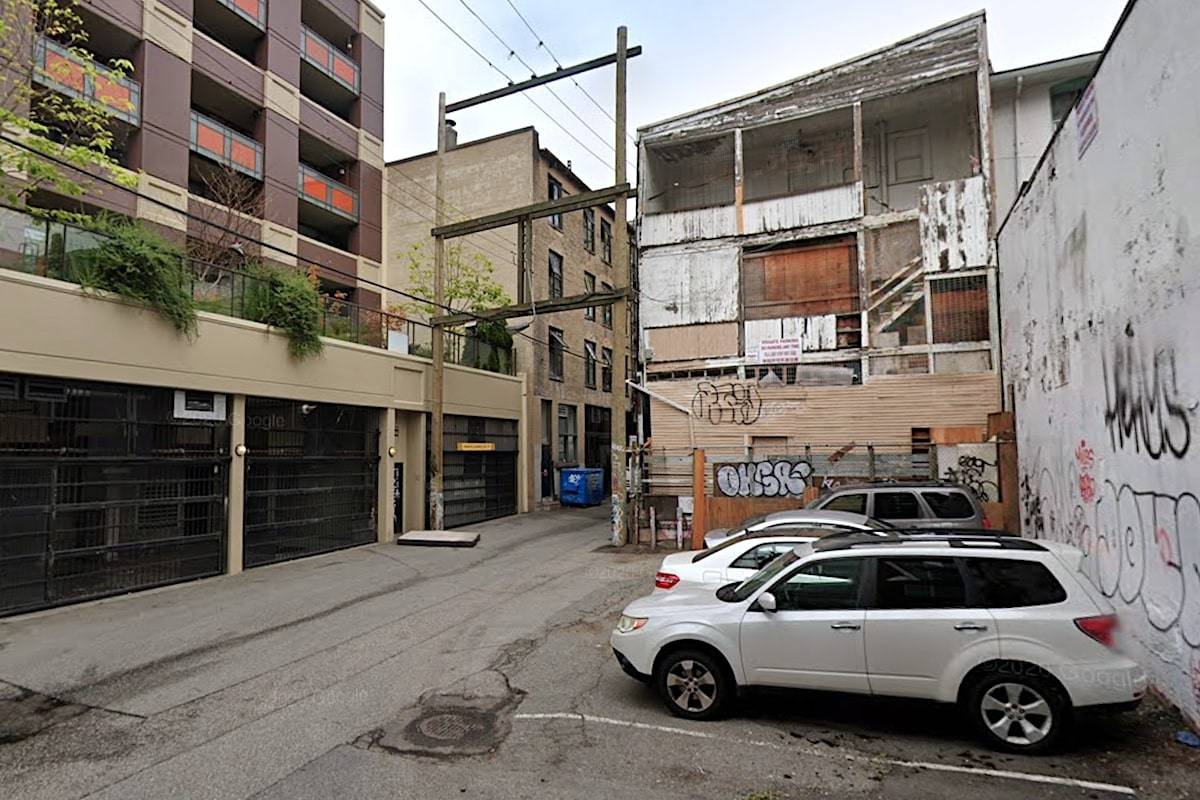 An alley in the Downtown Eastside of Vancouver, B.C. (Google Maps)