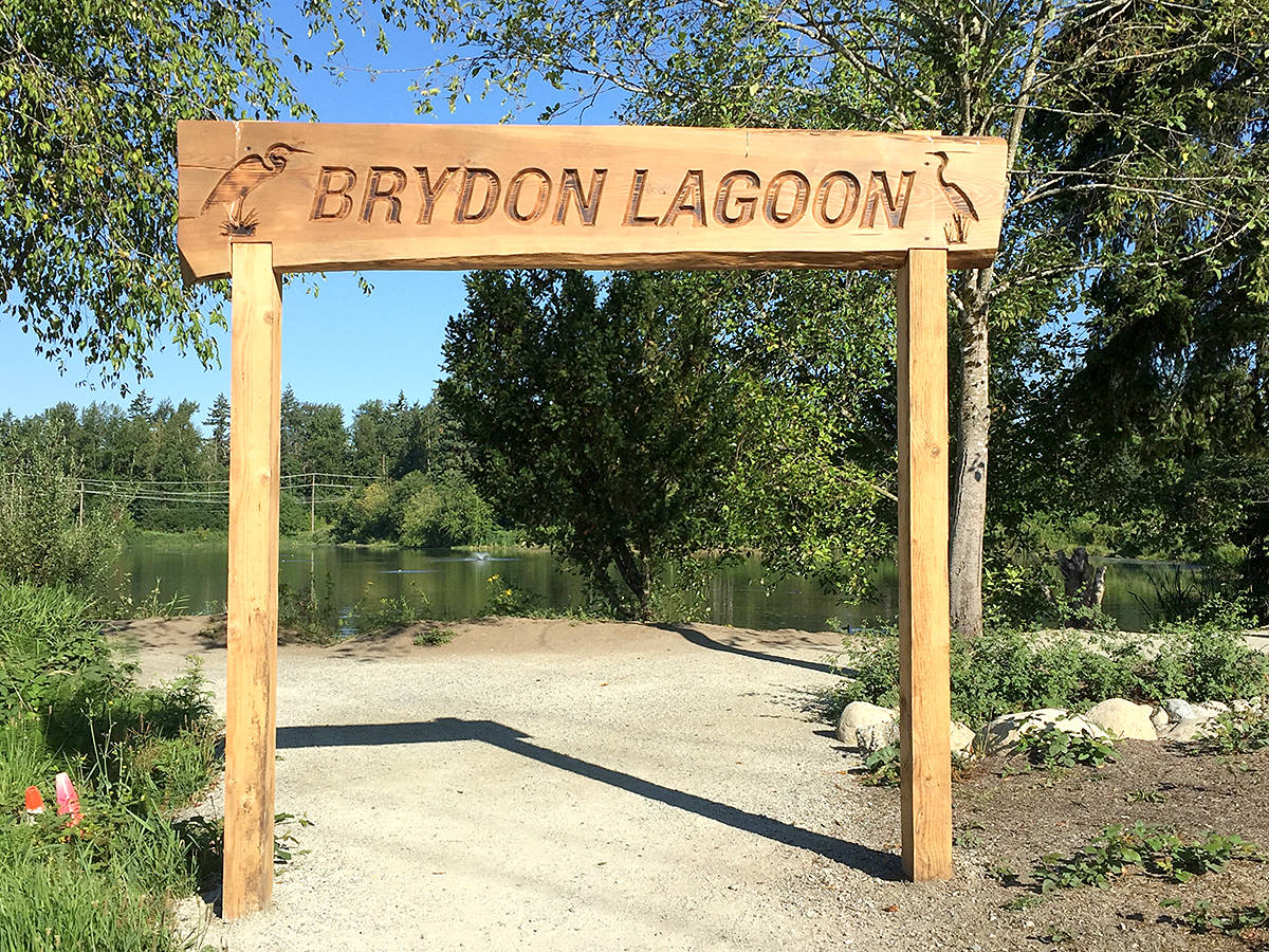 Brydon Lagoon is a popular walking area and a local couple recently encountered several helpful people when one of them fell and was hurt. (Langley Advance Times files)