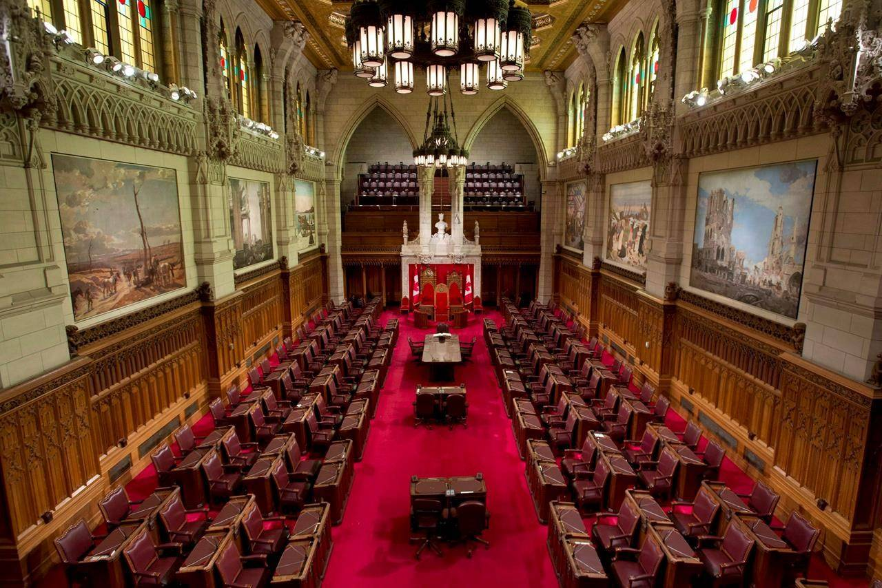 The Senate chamber on Parliament Hill is seen on Tuesday, May 28, 2013 in Ottawa. THE CANADIAN PRESS/Adrian Wyld
