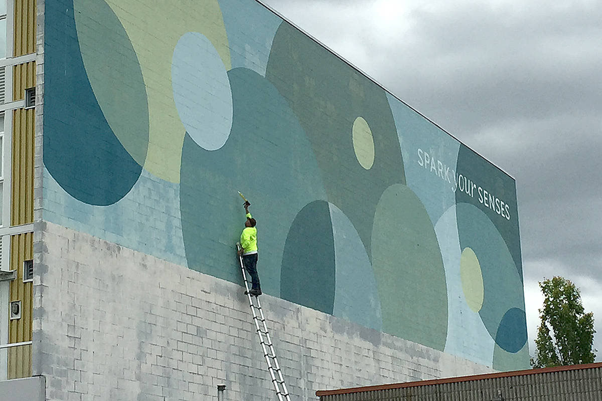 Disappearing circles will not deter Downtown Langley Business Association from its quest to grow its gallery of murals. (Roxanne Hooper/Langley Advance Times)
