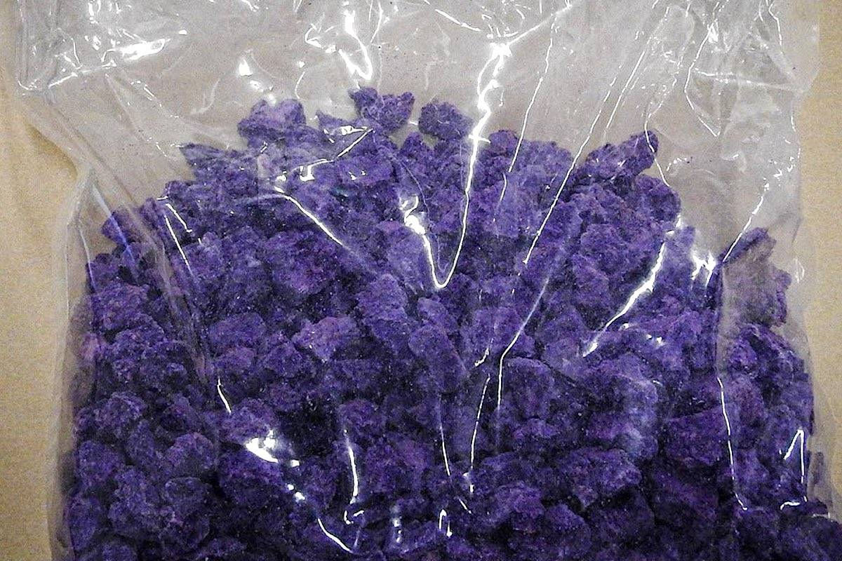 A bag of fentanyl was seized in the coordinated Lower Mainland drug bust. (B.C. CFSEU)