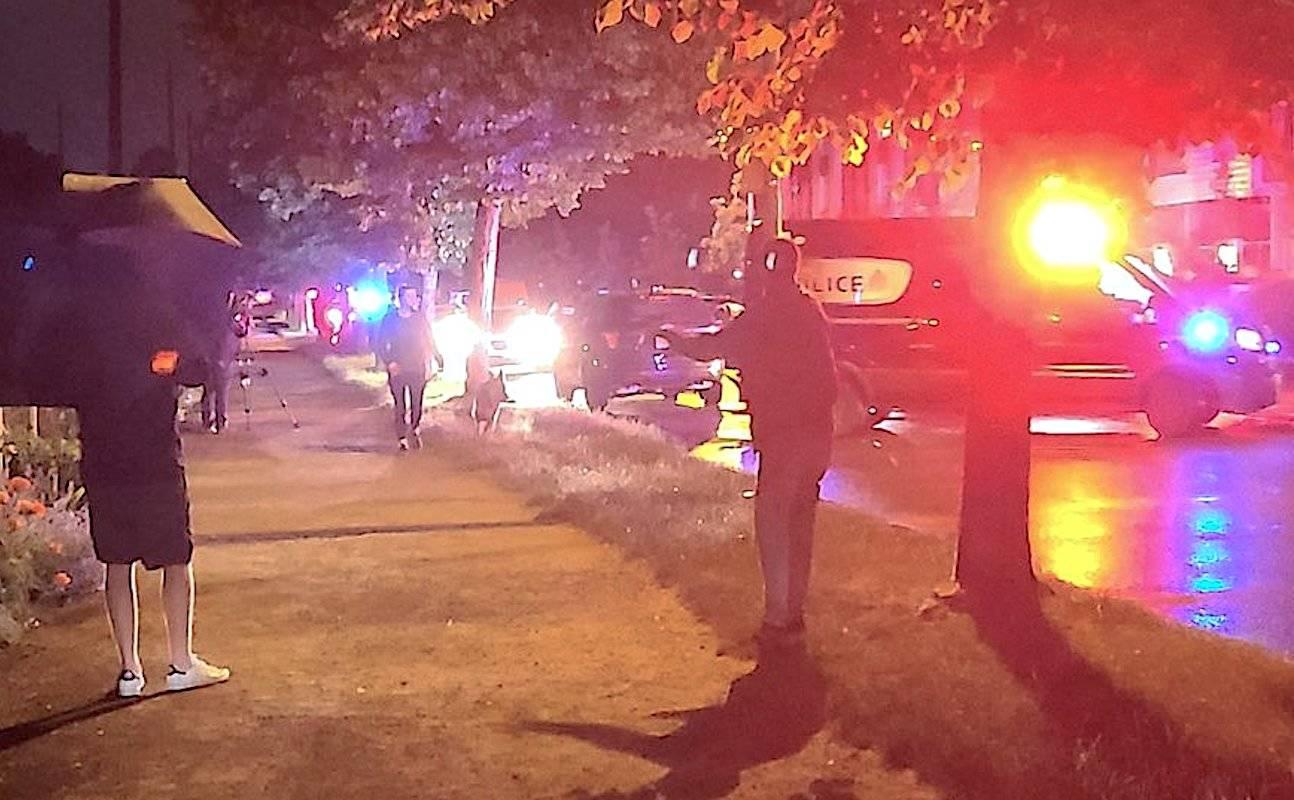 The scene of the Friday, June 4, 2011 shooting near Kent Avenue and Kerr Street. (Twitter/Katelynn Ramage)