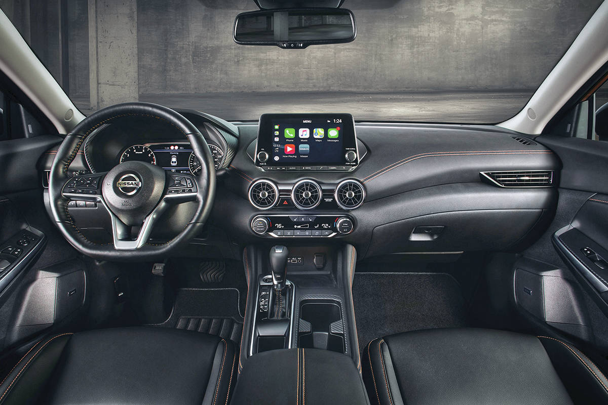 The current Sentra is slightly longer than before and it's also five centimetres wider. The roofline is lower, which also lowers the centre of gravity. PHOTO: NISSAN