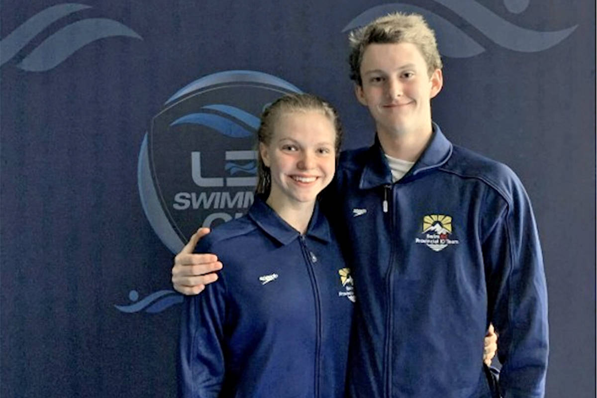 LOSC swimmers Bailey Herbert and Hugh McNeill will be participating in the postponed 2020 Tokyo Olympic Trials scheduled for June 19-23. (Special to Langley Advance Times)