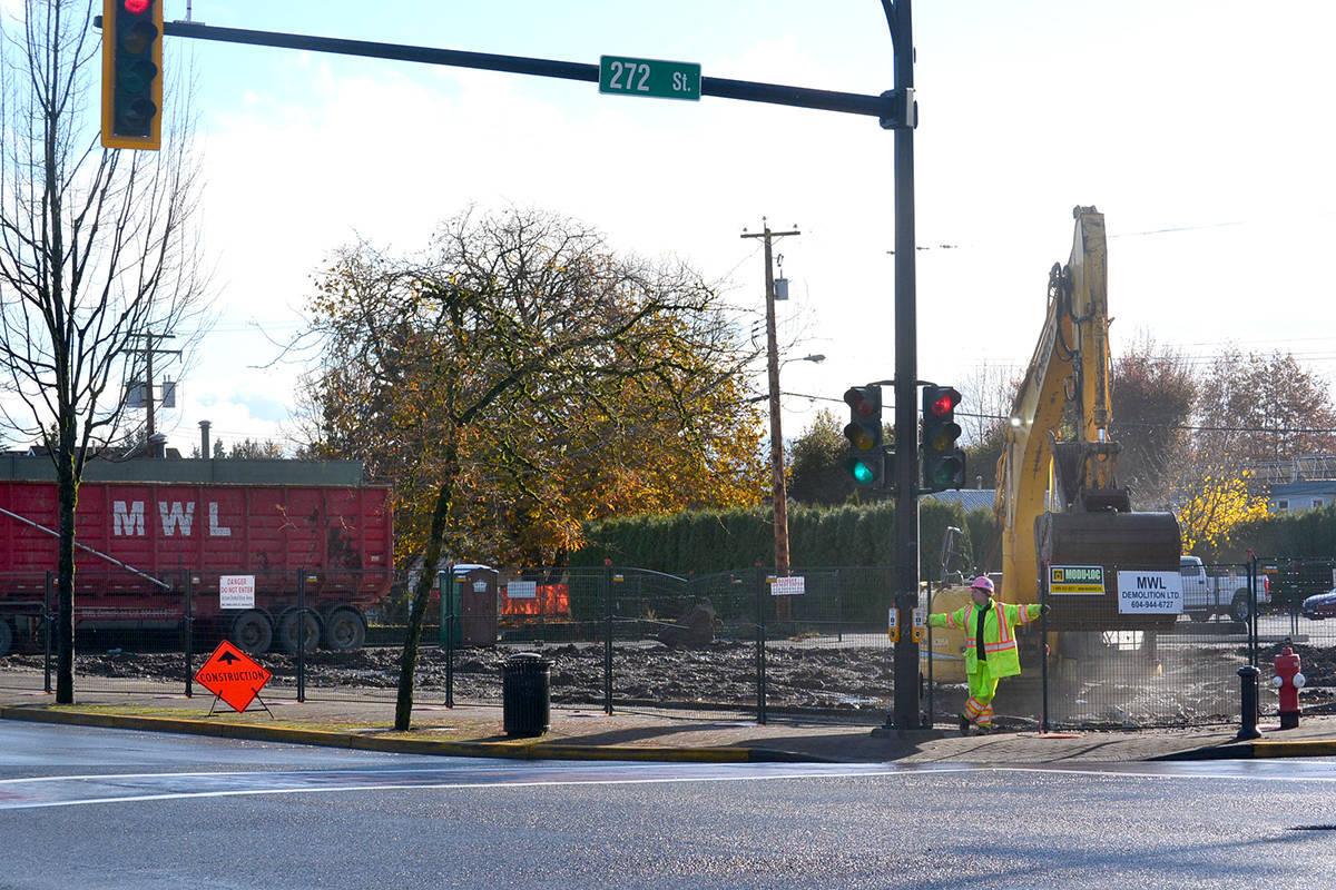 Alder Inn was demolished last November. (Black Press Media files)
