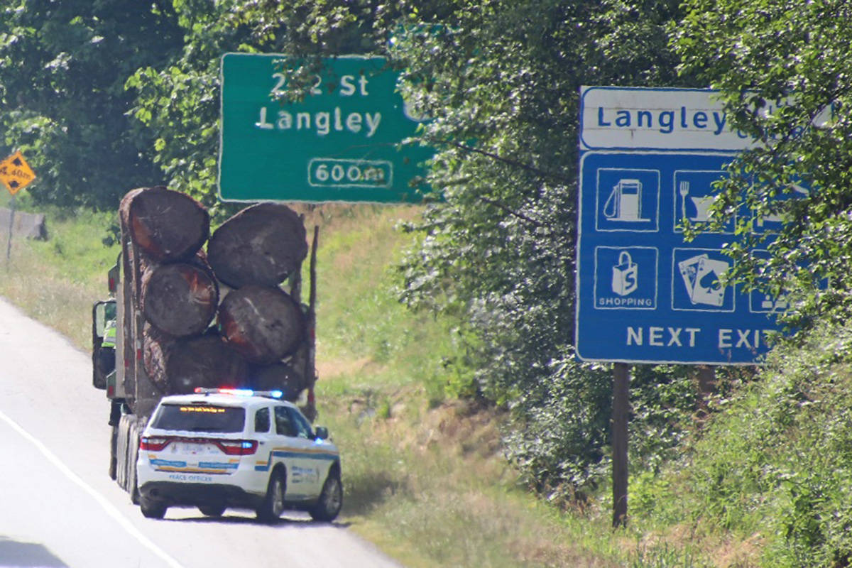 Emergency crews attended a crash scene on the Trans Canada Highway in Langley. (Shane MacKichan/special to Langley Advance Times)