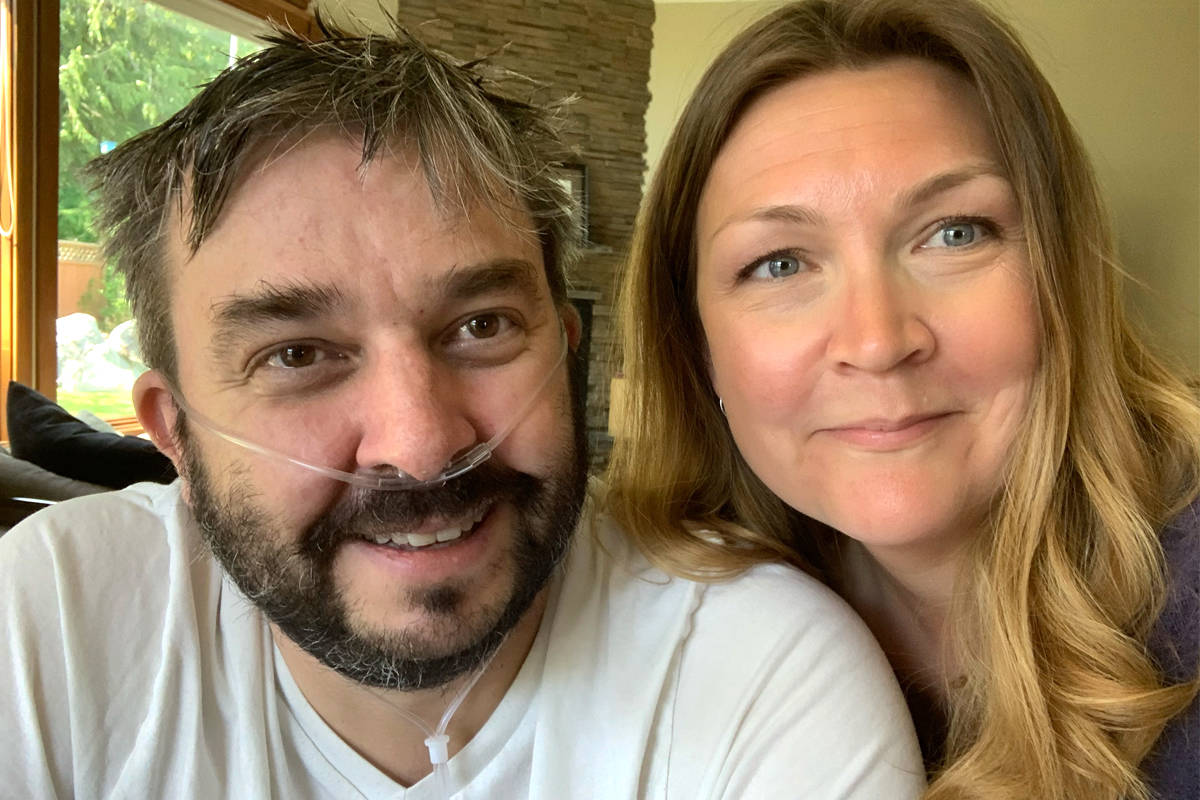 Nelson's Rob and Kristina Little were each infected by COVID-19. For Rob, that meant nearly a month in an intensive care unit at Trail's Kootenay Boundary Regional Hospital. Photo: Submitted