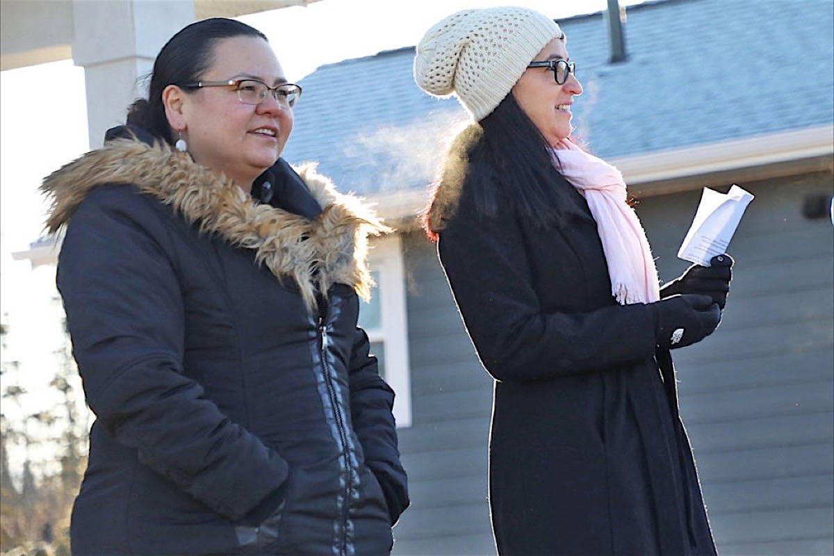 Saik'uz First Nation Coun. Jasmine Thomas and Chief Priscilla Mueller speak about the need for addiction treatment facility near Vanderhoof, March 2021. (Aman Parhar/Omineca Express)