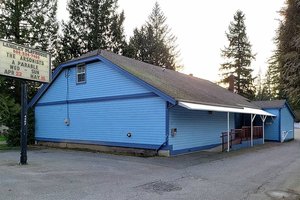 Langley Playhouse, as pictured on the new website for Langley Little Theatre (langleylittletheatre.org).