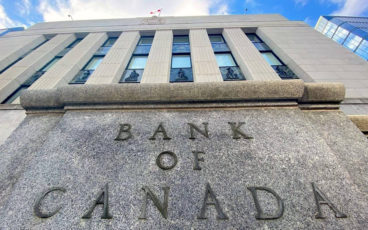 The Bank of Canada building is seen in Ottawa on April 15, 2020. THE CANADIAN PRESS/Adrian Wyld
