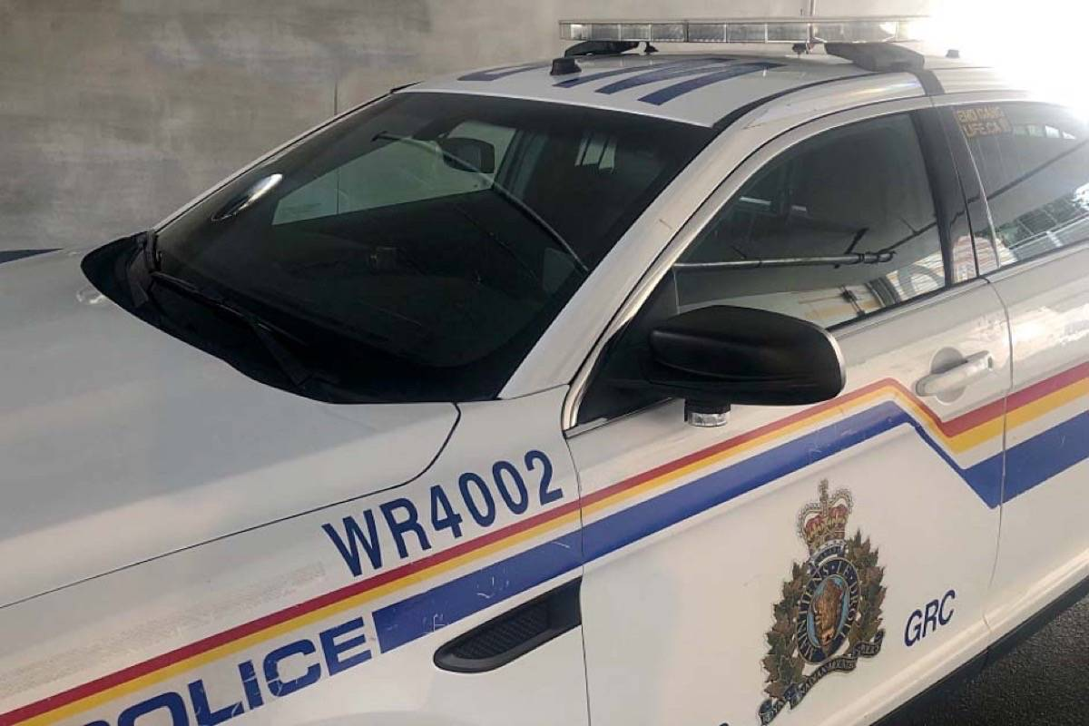 A new driver was fined for excessive speed early June 6, 2021, after being pulled over on White Rock's Marine Drive. (White Rock RCMP Twitter photo)
