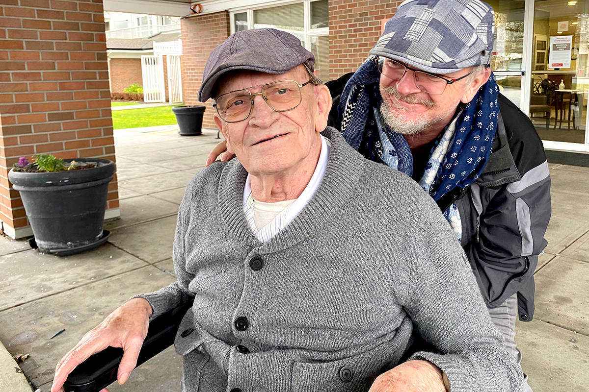 Aldergrove journalist Dean Broughton and his father, Bert. (Special to The Star)