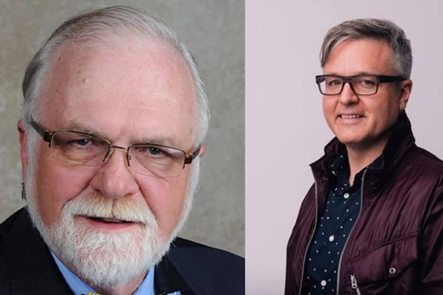 Chilliwack school trustee Barry Neufeld (left) and former BCTF president Glen Hansman (right).