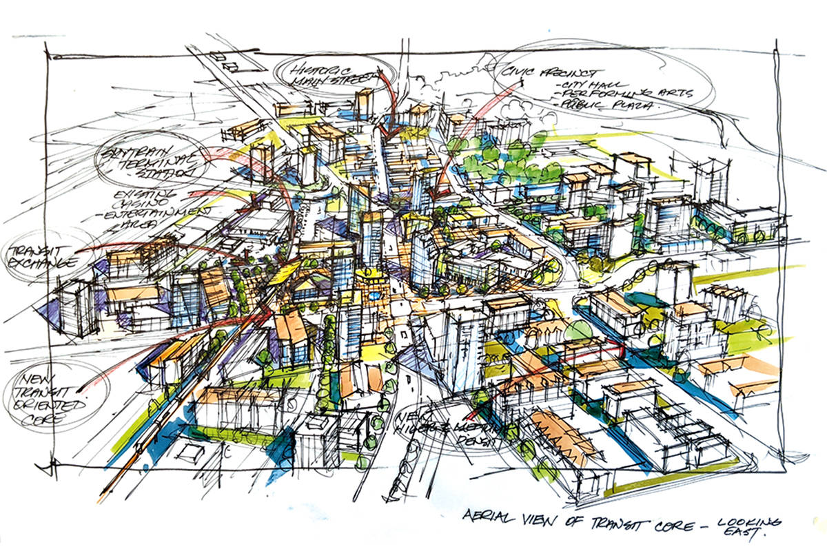 A Langley City image envisions the future of the downtown core. (file)