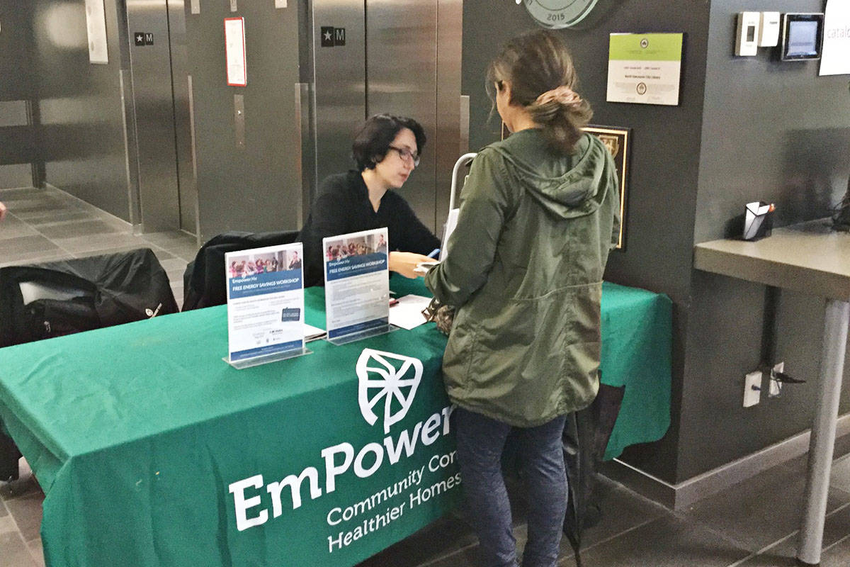EmPower Me operates in B.C. and Alberta. It attends various community events to educate about energy conservation and provides workshops to provide more in-depth learning. (EmPower Me Facebook)